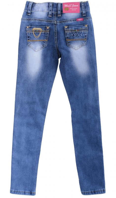 Купить Молодежные джинсы голубого цвета