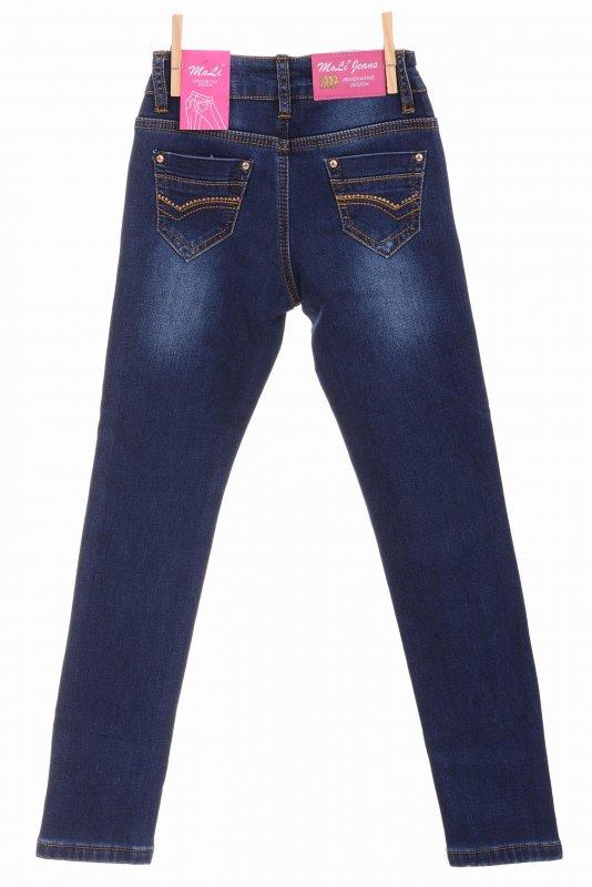 Купить Молодежные джинсы синего цвета на флисе