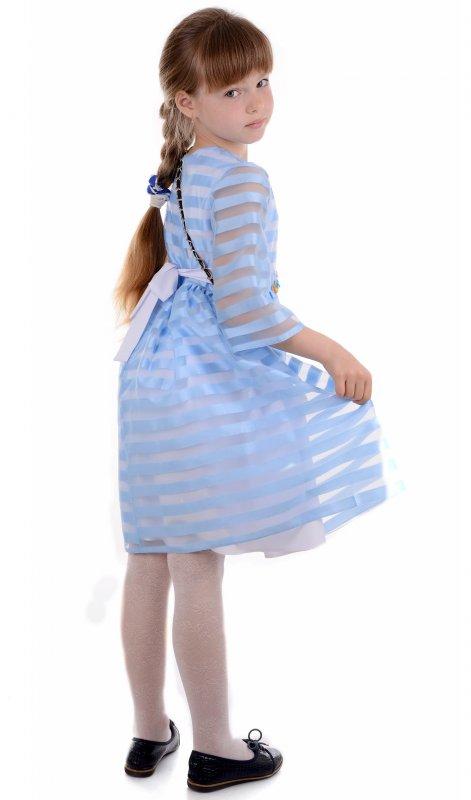 Купить Нарядное детское платье голубого цвета