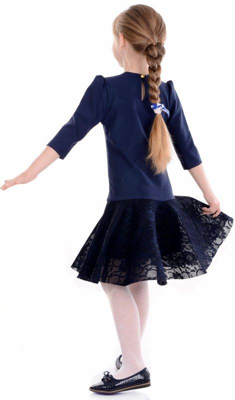 Купить Нарядное детское платье синего цвета
