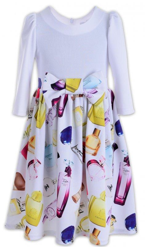 Купить Нарядное платье белого цвета с бантом