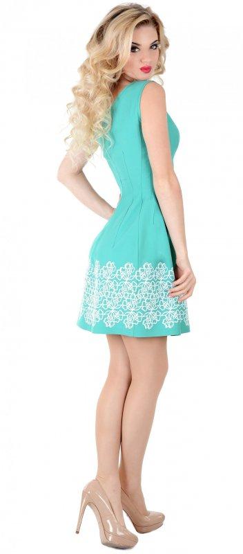Купить Нежное коктейльное платье светло-зеленого цвета без рукавов