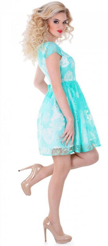 Купить Нежное летнее платье светло-зеленого цвета с коротким рукавом