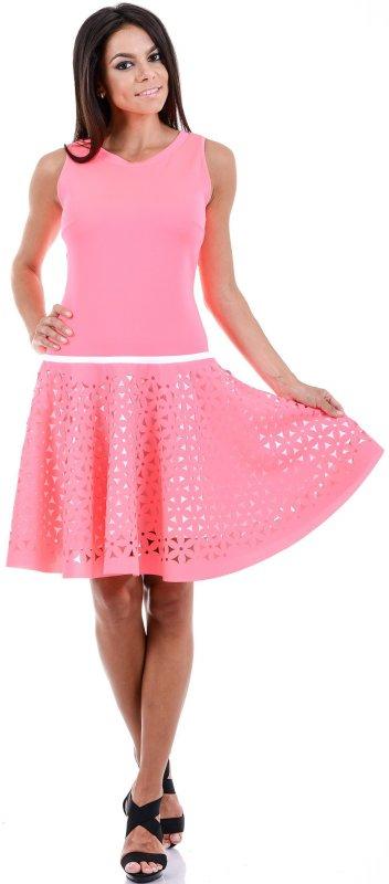 Купить Оригинальное коктейльное платье розового цвета без рукавов