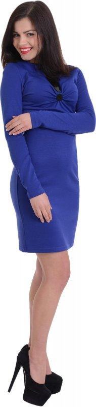 Купить Модное повседневное платье синего цвета с длинным рукавом