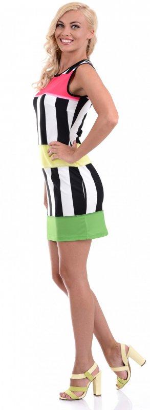 Купить Необычное повседневное платье в полоску без рукавов