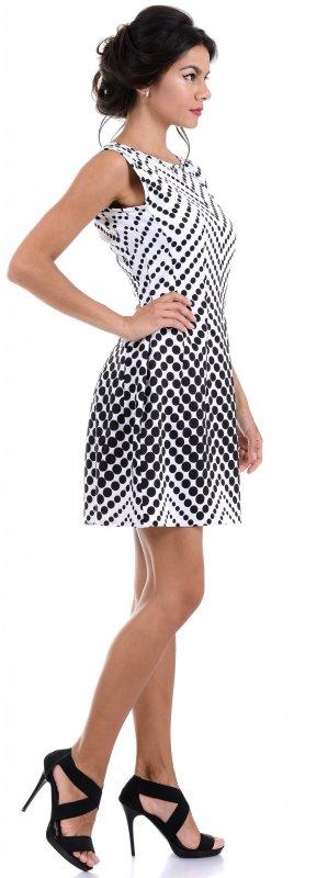 Купить Трендовое легкое платье в горошек без рукавов