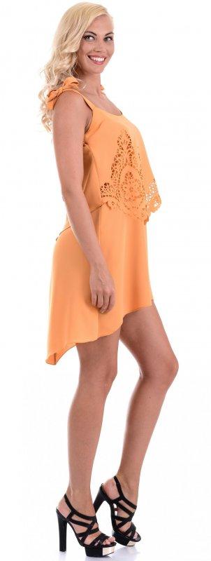Купить Оригинальное легкое платье горчичного цвета без рукавов