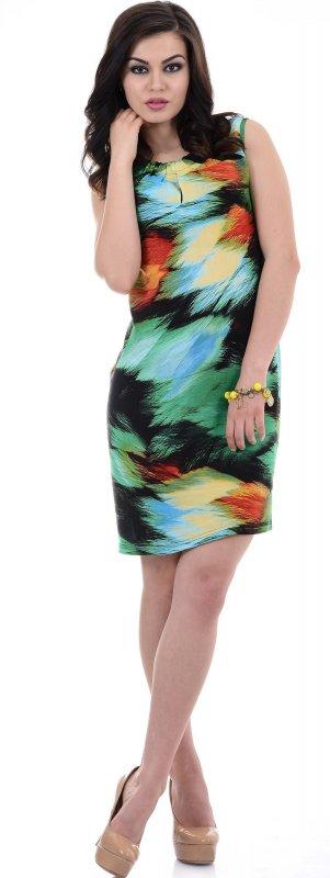 Купить Яркое легкое платье без рукавов