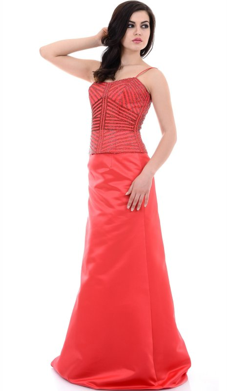 Купить Красивое вечернее платье красного цвета без рукавов