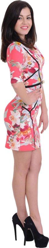 Купить Роскошное коктейльное платье с цветами