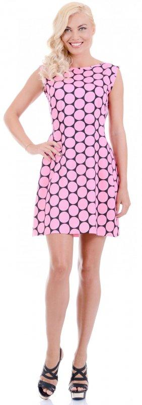 Купить Милое коктейльное платье розового цвета без рукавов