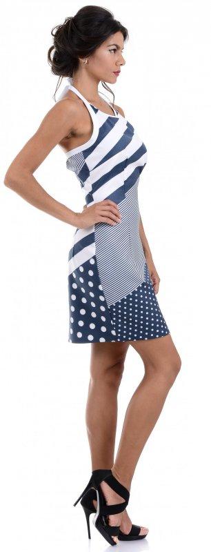 Купить Стильное летнее платье в полоску и горох