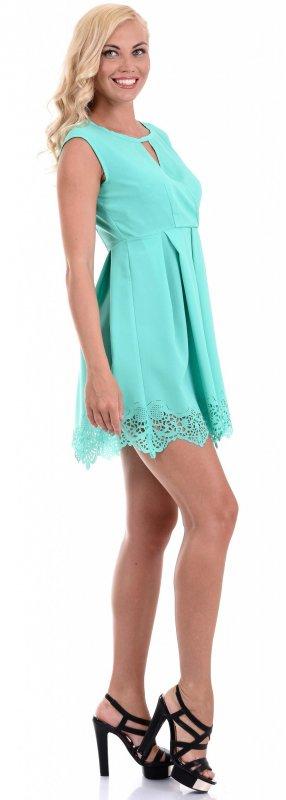 Купить Красивое легкое платье ментолового цвета без рукавов