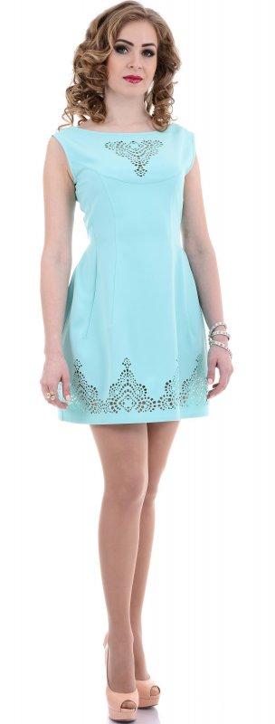 Купить Нежное легкое платье голубого цвета без рукавов