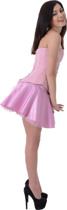 Купить Оригинальный корсет с юбкой розового цвета