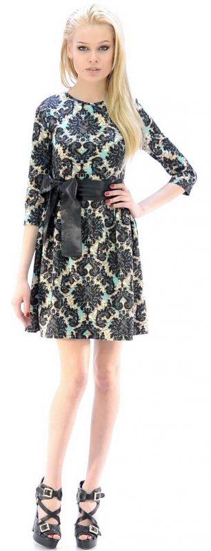 Купить Милое вечернее платье с узором и длинным рукавом