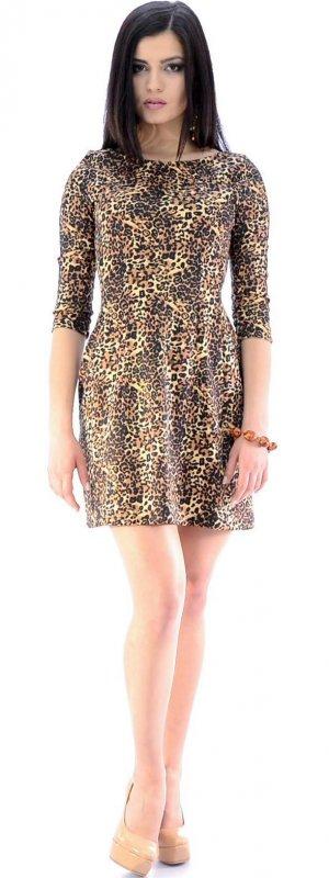 Купить Модное коктейльное платье с принтом и длинным рукавом