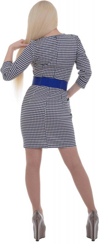 Купить Милое офисное платье в кружечек с длинными рукавами