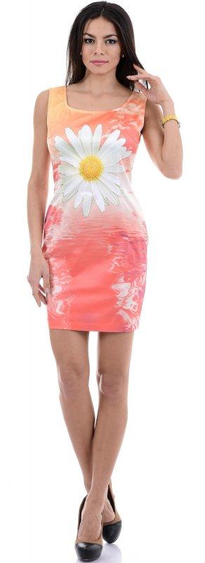 Купить Легкое платье оранжевого цвета без рукавов