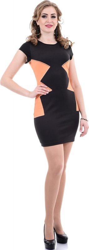 Купить Необычное коткейльное платье черного цвета с коротким рукавом