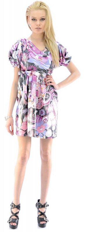 Купить Оригинальное платье розового цвета с узором