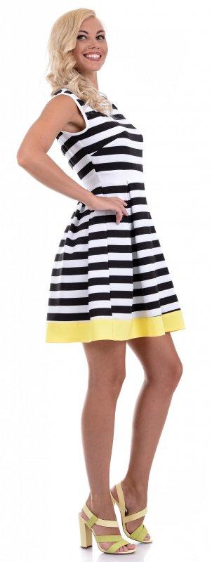 Купить Необычное легкое платье в полоску без рукавов