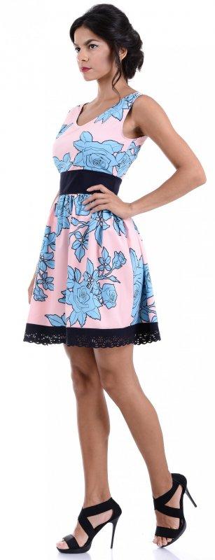 Купить Милое легкое платье розового цвета с цветами