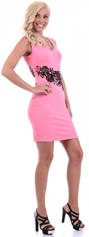 Купить Эффектное коктейльное платье розового цвета без рукавов