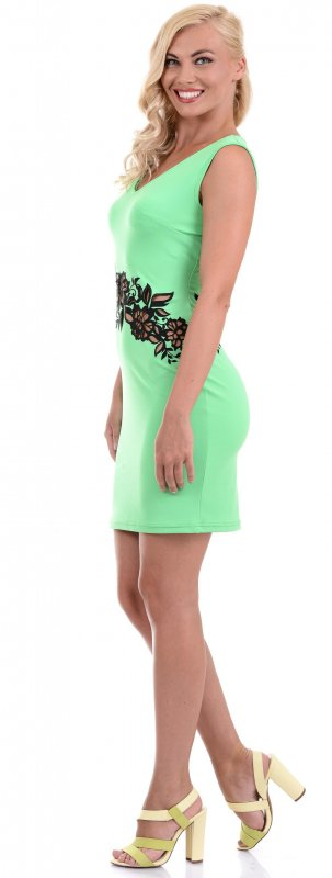 Купить Потрясающее коктейльное платье зеленого цвета без рукавов