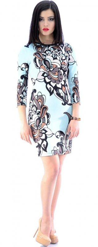 Купить Нарядное повседневное платье с узором