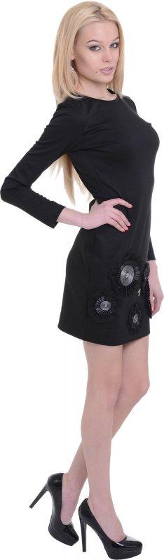 Купить Эффектное повседневное платье черно цвета с цветами