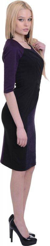 Купить Элегантное вечернее платье фиолетового цвета с длинным рукавом