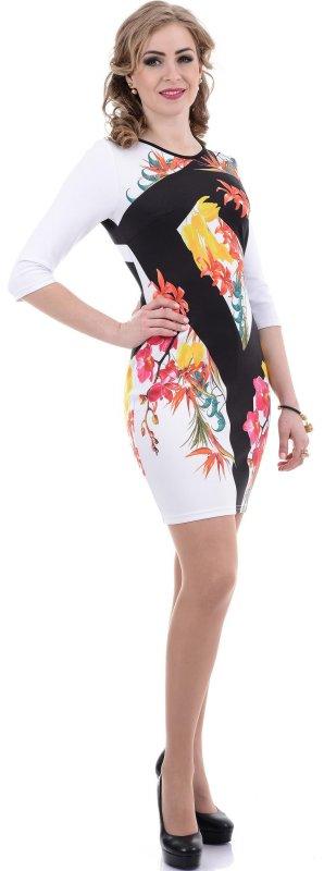 Купить Эффектное коктейльное платье с цветами
