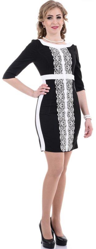 Купить Элегантное вечернее платье черного цвета с кружевом