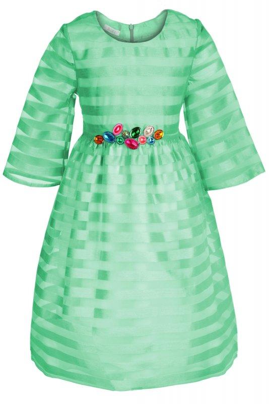 Купить Роскошное детское платье зеленого цвета