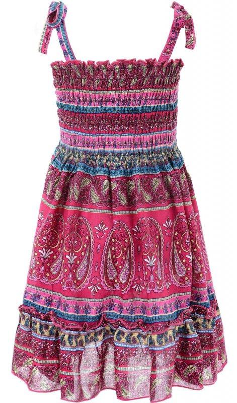 Купить Модный сарафан розового цвета с узором