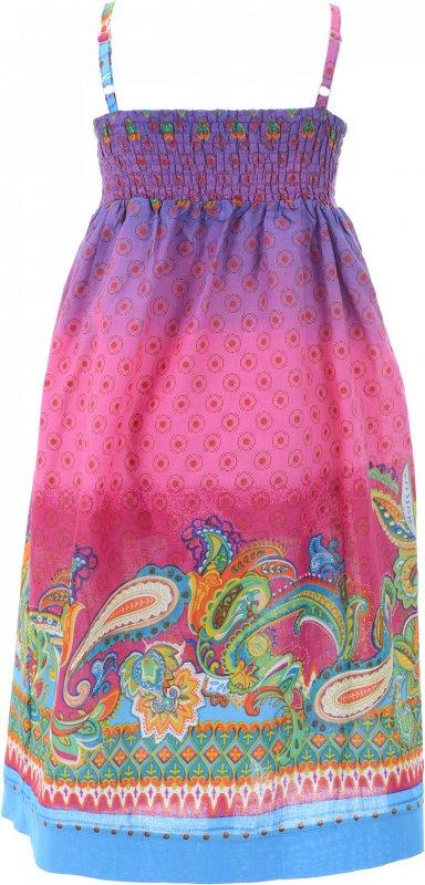 Купить Яркий сарафан поплин розового цвета с узором