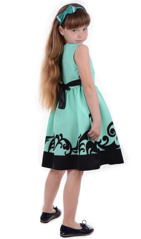 Купить Шикарное летнее платье зеленого цвета