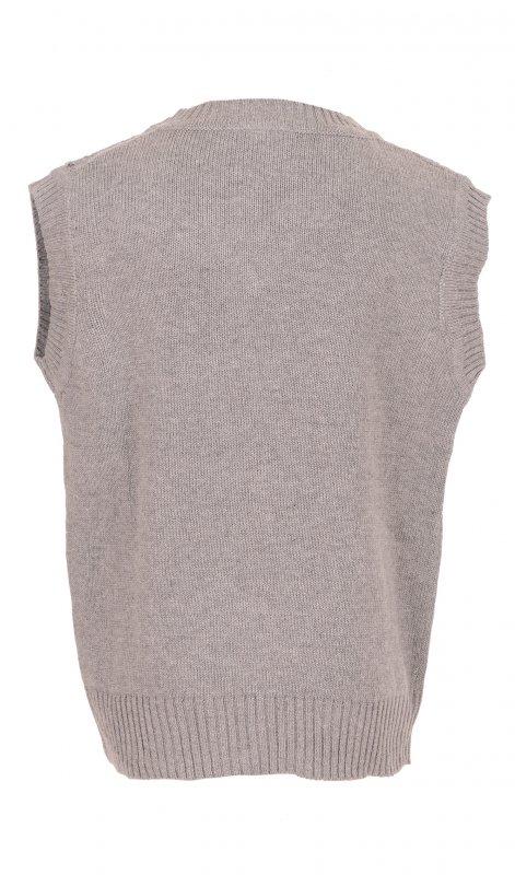 Купить Стильная жилетка для мальчика серого цвета