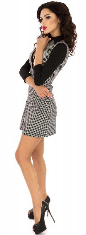 Купить Стильное повседневное платье черного цвета с длинным рукавом