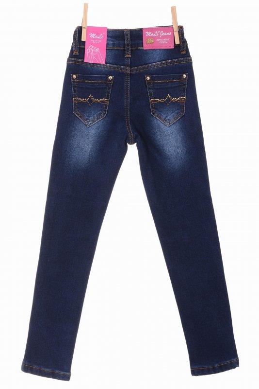 Купить Стильные джинсы синего цвета на флисе