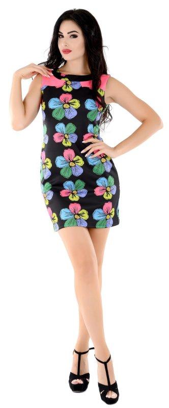 Купить Трендовое повседневное платье черного цвета без рукавов