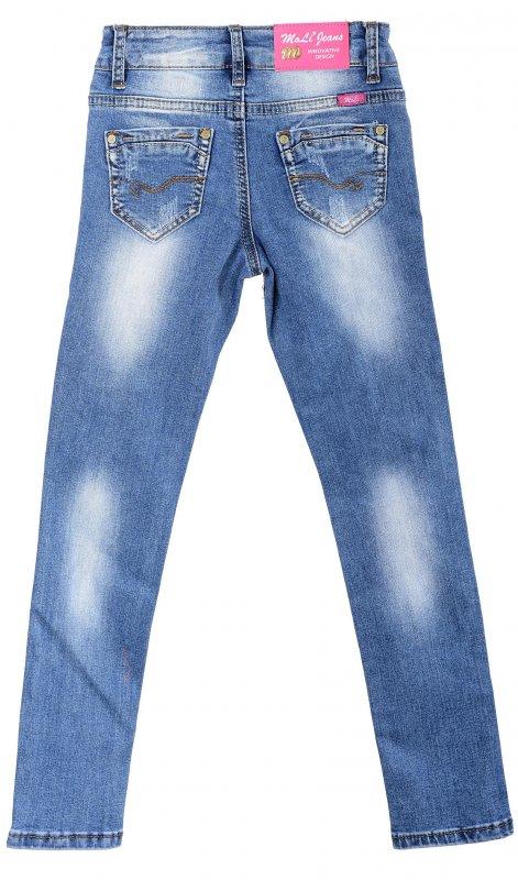 Купить Трендовые джинсы голубого цвета