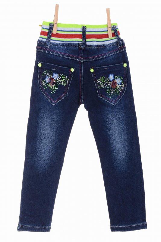 Купить Трендовые джинсы синего цвета на флисе