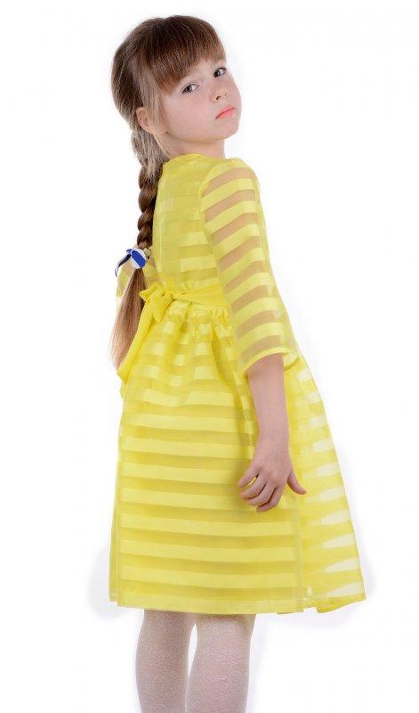 Купить Яркое детское платье желтого цвета