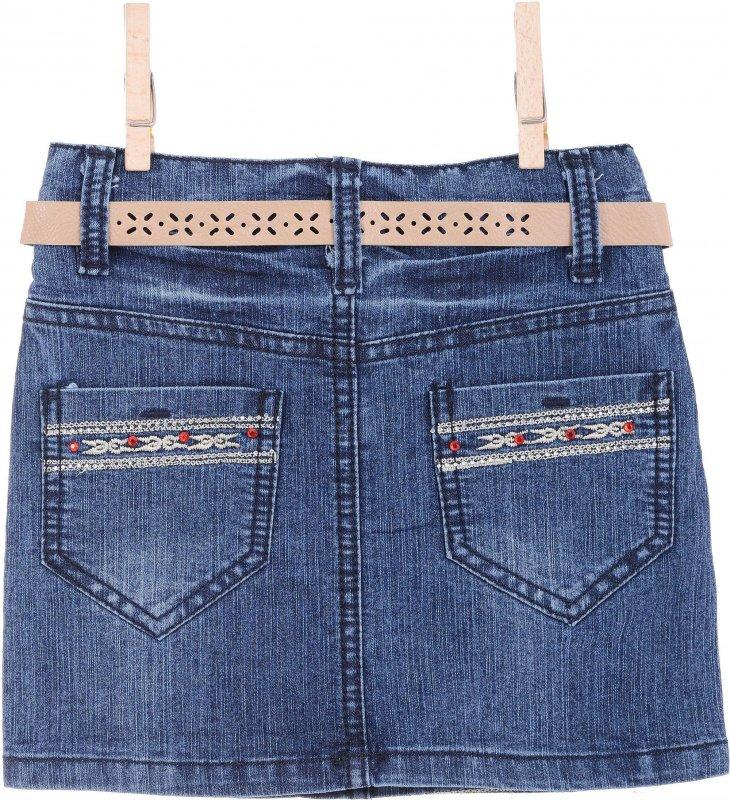 Купить Красивая джинсовая юбка с узором