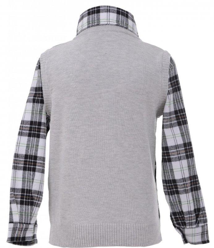 Купить Оригинальная рубашка-жилетка серого цвета