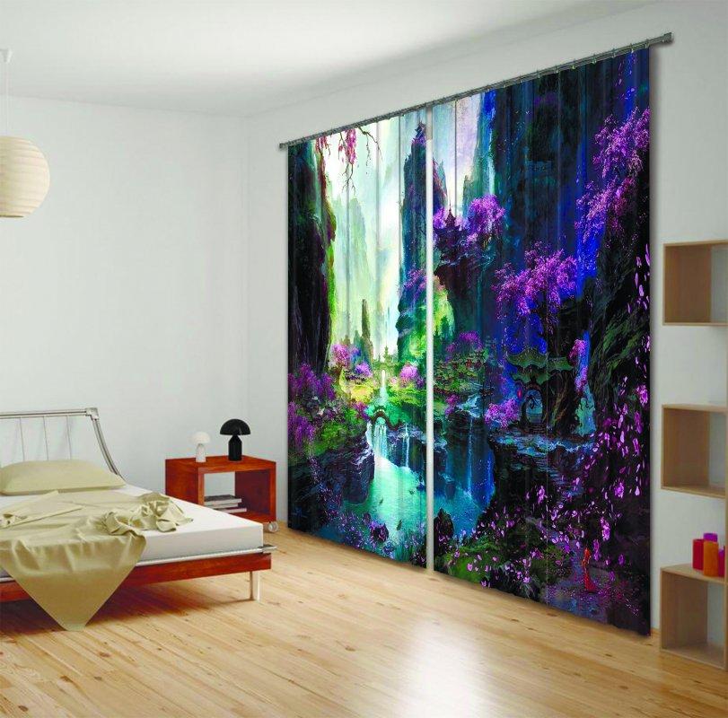 Купить Фотошторы Цветущие джунгли