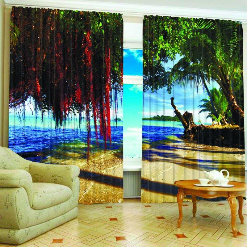 Купить Фотошторы Тропический остров